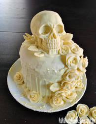 Our skull-wedding cake
