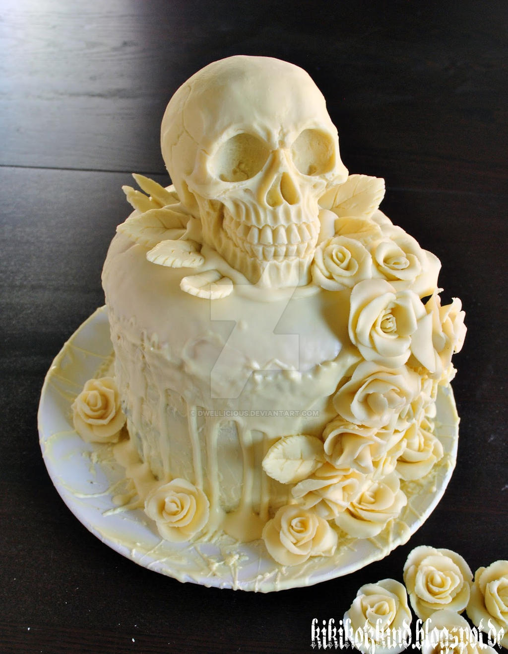 candy skull wedding cake our skull wedding cake by dwellicious on deviantart 12352