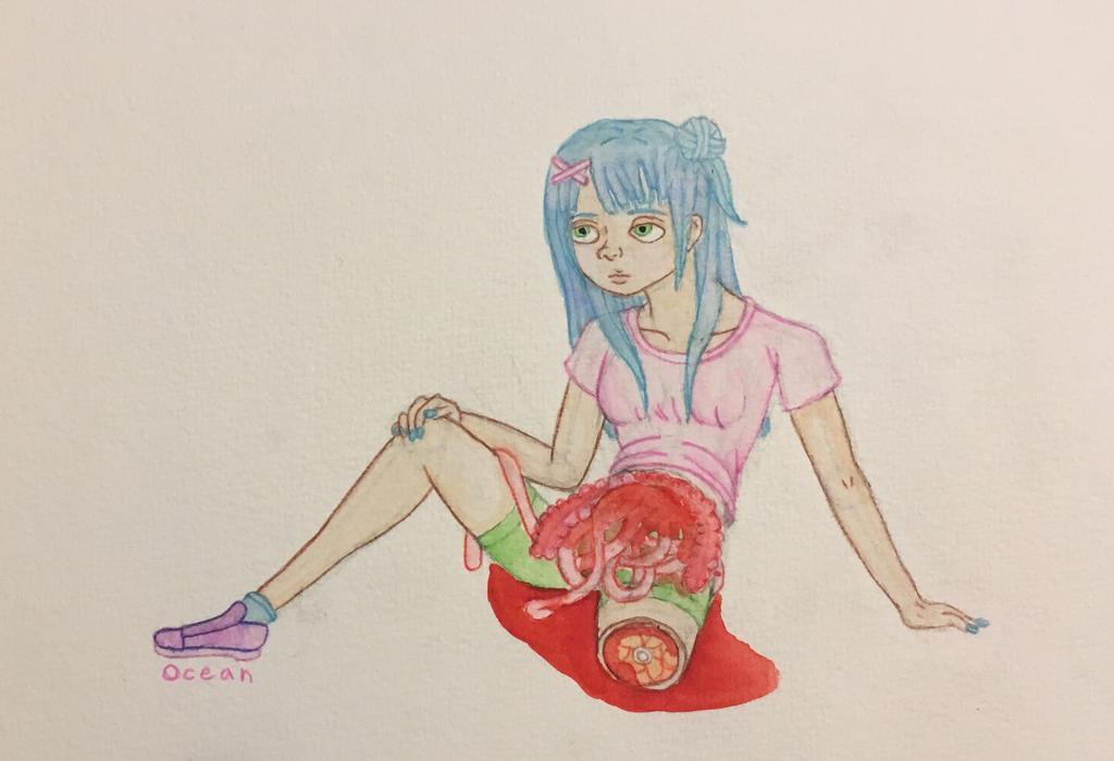 Bored Girl by oceangirl1