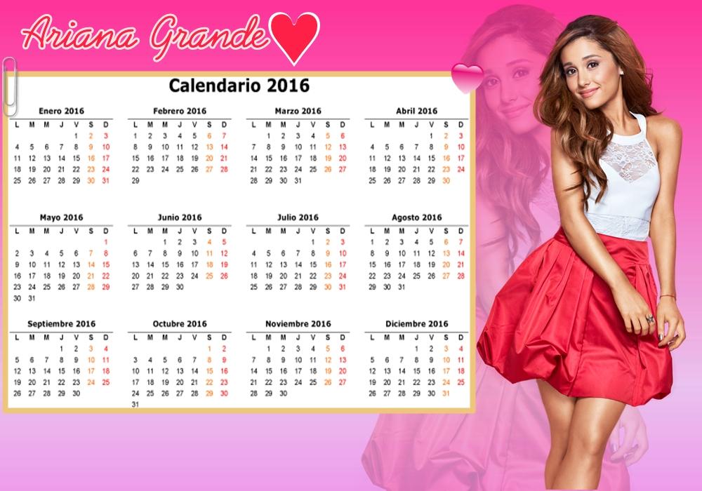 Ariana Grande Calendario.Calendario De Ariana Grande By Lunitadesings On Deviantart