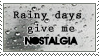 Rainy Day Nostalgia Stamp by IrkenZar