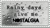 Rainy Day Nostalgia Stamp by IrkenZar