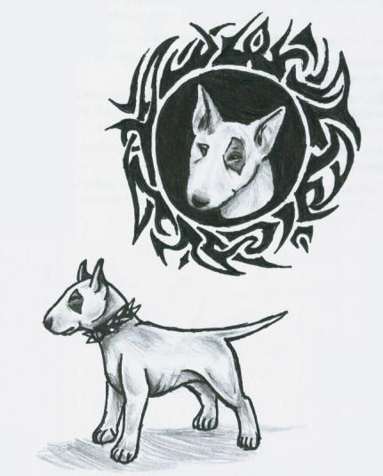 tribal and bull terrier sketch by pucksgryn on deviantart. Black Bedroom Furniture Sets. Home Design Ideas