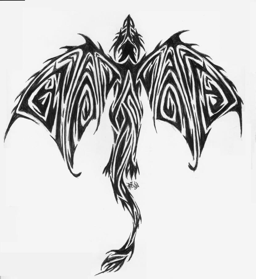 Tribal dragon tattoo idea by pucksgryn
