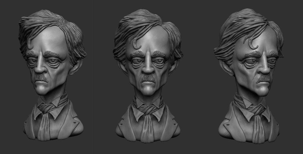 Edgar Allan Poe by shaungent