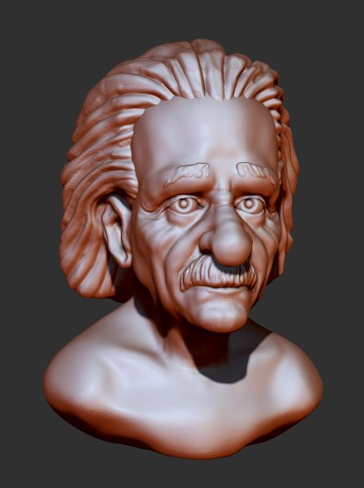 Albert Einstein(clay sketch) by shaungent