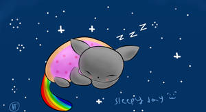 sleepy day of nyan cat