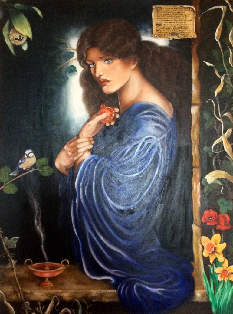 Proserpina, tribute to Dante Gabriele Rossetti