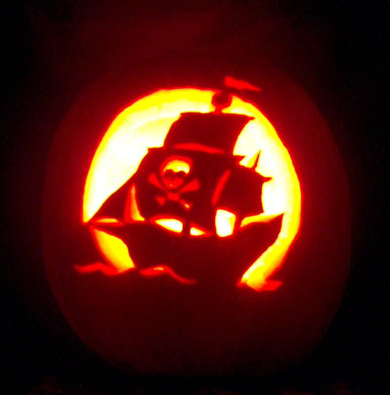 My Pirate Ship Pumpkin