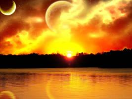 Alien World's Sunset by Misaki-chi