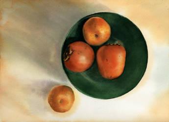 Persimmons And Mandarins by Marhelf
