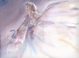 Earwen, the Swan-maiden of Alqualonde by Marhelf