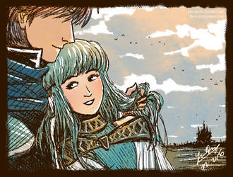 Eliwood and Ninian by favri