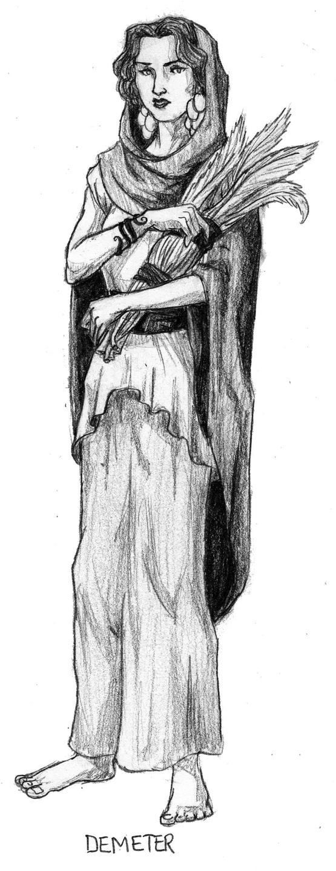 demeter greek goddess drawing - photo #23