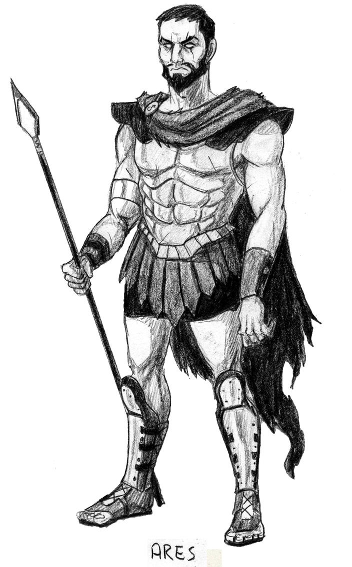 Greek God Ares Drawing Ares by Mbecks14 on de...