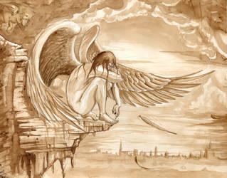 Ange dans l'aube by Jolivert
