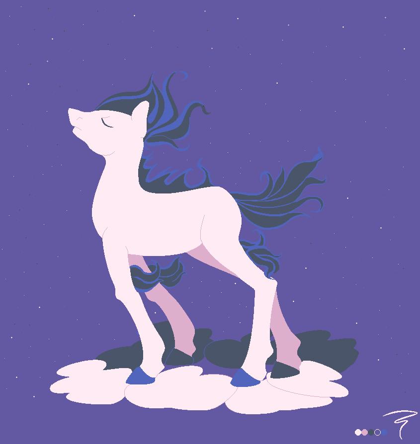 Shiny Ponyta by AgnosticaFiesta