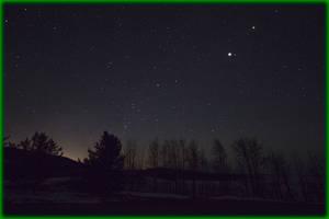Starry night with 3/4 lunar eclipse, 2014 Apr 15 by ByLagarto