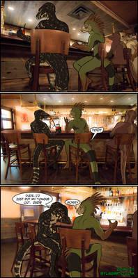 2 Lizards in a Bar