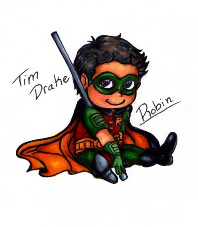 Tim Drake Robin Chibi by kay-sama