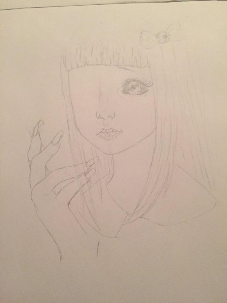 Random hand + girl by Weeb-Draws