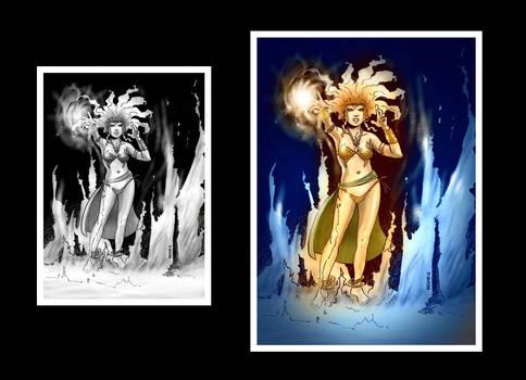 Fantasy Magician Colored
