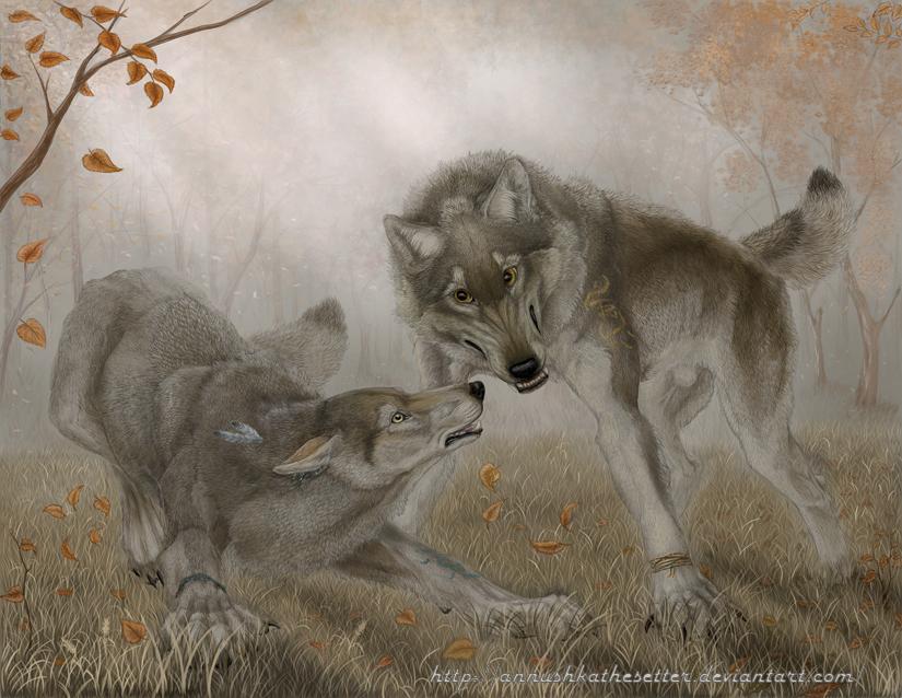 Werewolf calendar: October by Annushkathesetter