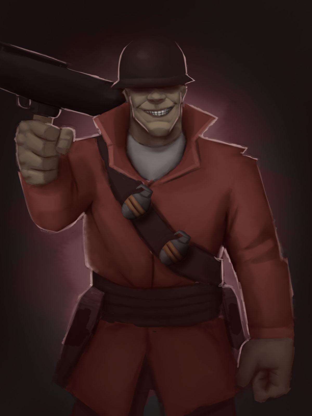 Soldier Team Fortress 2 By Mcarronne On Deviantart