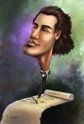 mihai eminescu caricature by 1oshuart