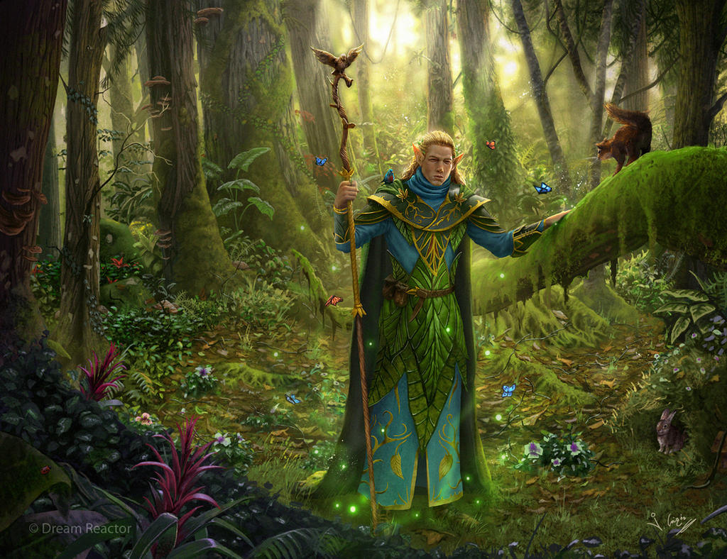 Elf druid by 1oshuart