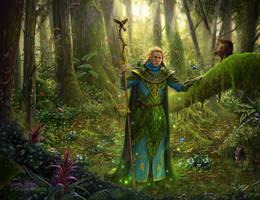 Elf druid by 1oshuart