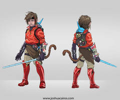 character concept for comic convention cartel by 1oshuart