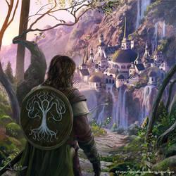 Boromir arrives to Rivendell by 1oshuart