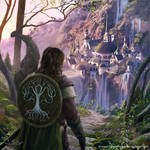 Boromir arrives to Rivendell