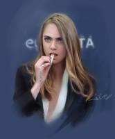 Cara Delevingne portrait /video in the description by 1oshuart