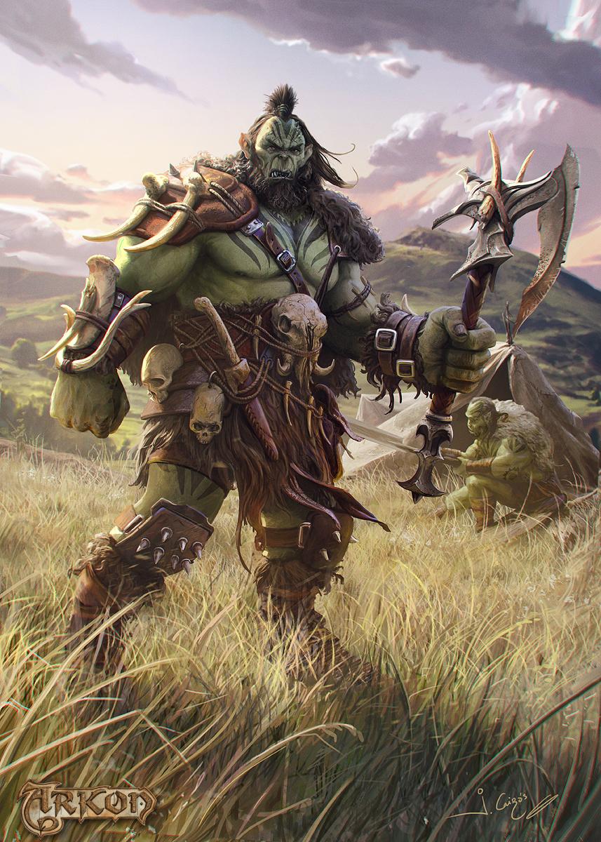 Orc hero by 1oshuart