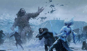 Jon Snow vs white walker by 1oshuart