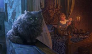 Tommen Baratheon and Balerion