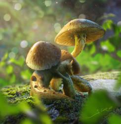 Mushroom creature concept