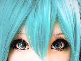 My Hatsune Miku cosplay Eye Makeup by MikuGirl51