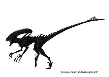 Alien Raptor by NefarusYul