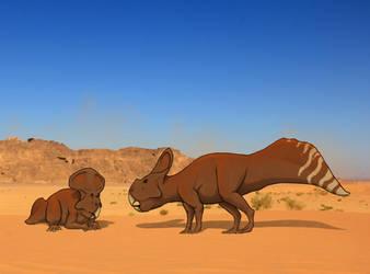 Humpback Protoceratops by NefarusYul