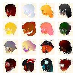 RWBY x UDD: Icons/Avatars by hjpenndragon