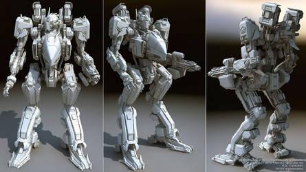 battle robot wasp by ksn-art