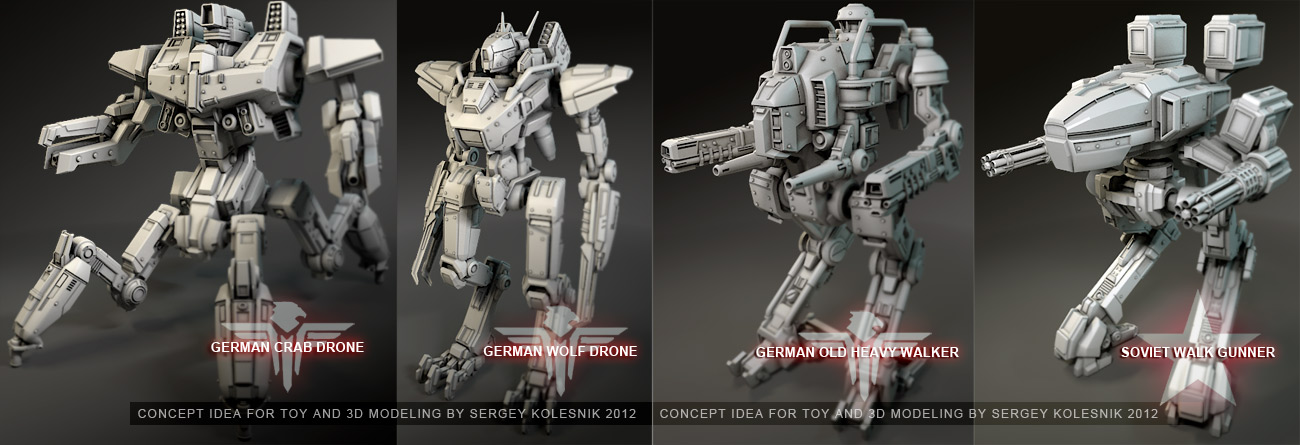 mechs idea concept by ksn-art