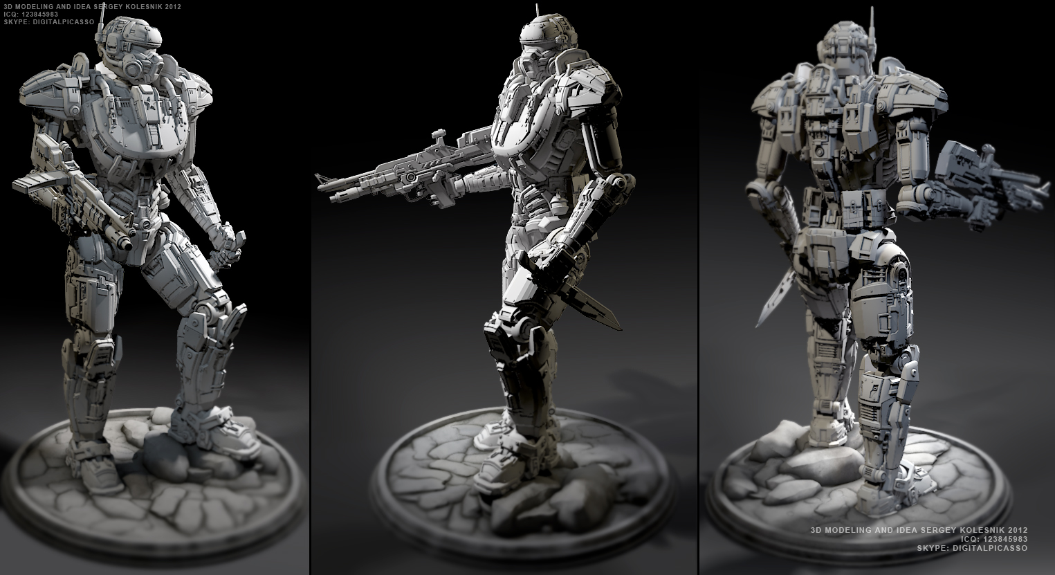 Polar Wolf  3d concept by ksn-art
