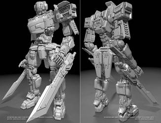 Knight robot by ksn-art