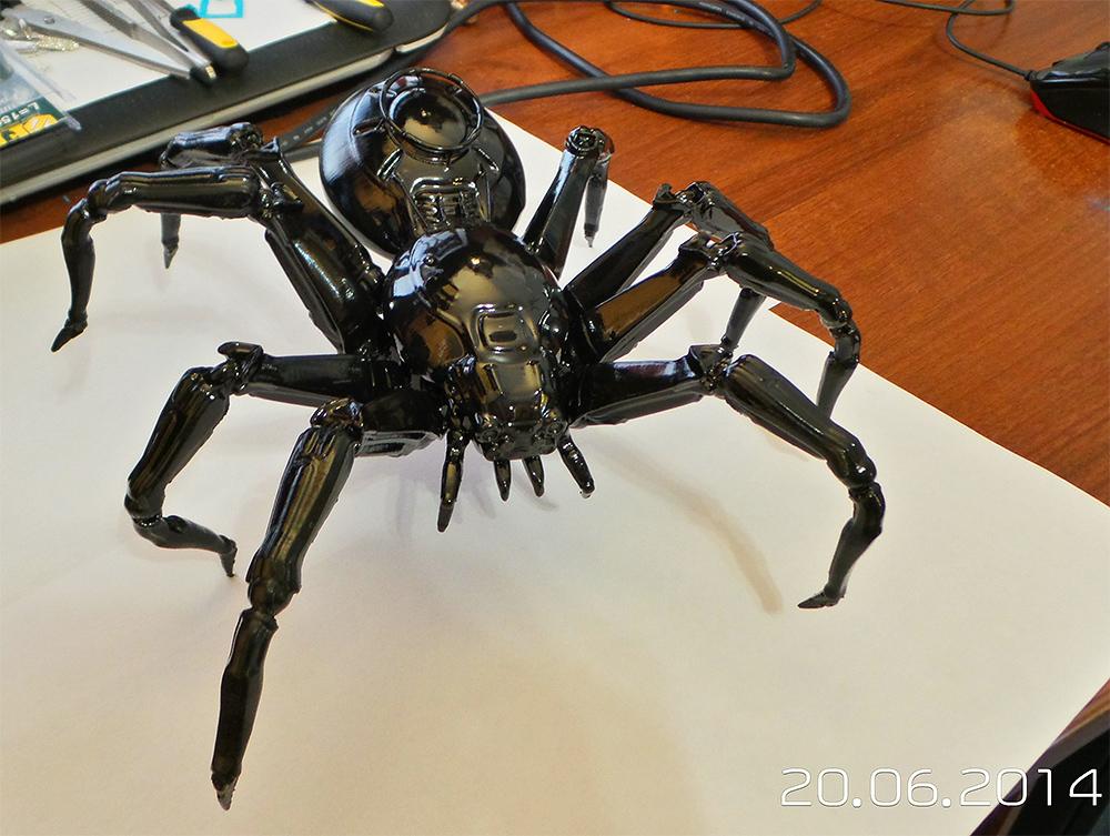 Spider in black by ksn-art