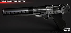 A180 blaster pistol Jyn Erso