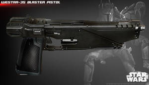 WESTAR 35 blaster pistol by ksn-art